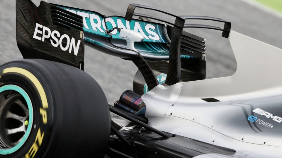 Mercedes W08 T-wing, Circuit de Catalunya, 2017