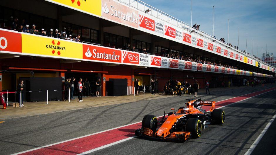Stoffel Vandoorne, McLaren, Circuit de Catalunya, 2017
