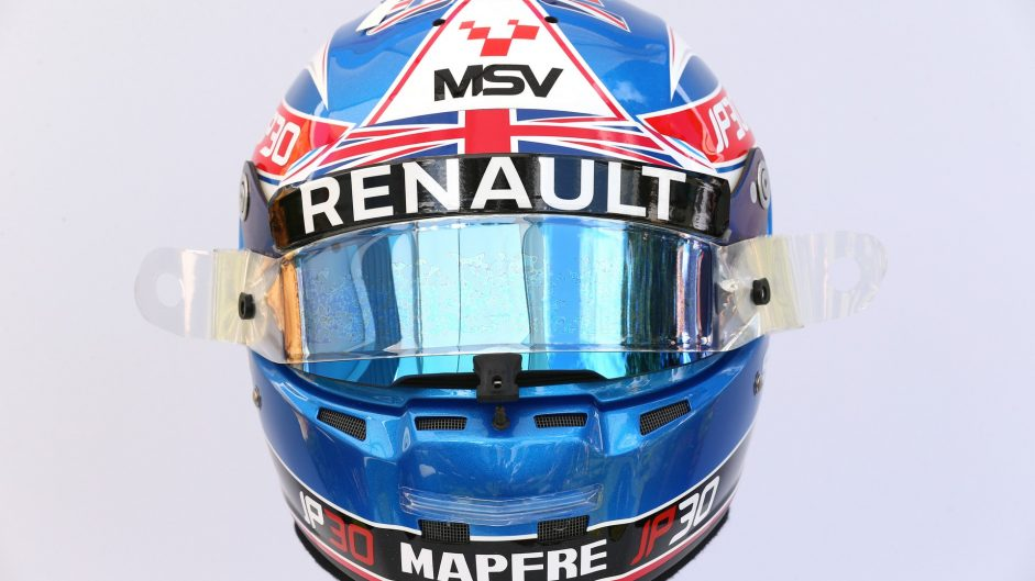 Jolyon Palmer helmet, Renault, 2017