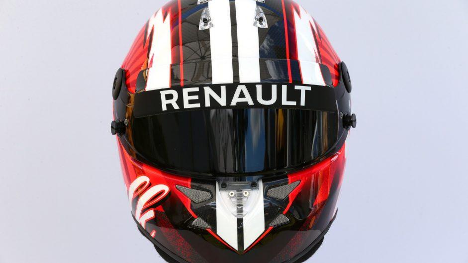 Nico Hulkenberg helmet, Renault, 2017