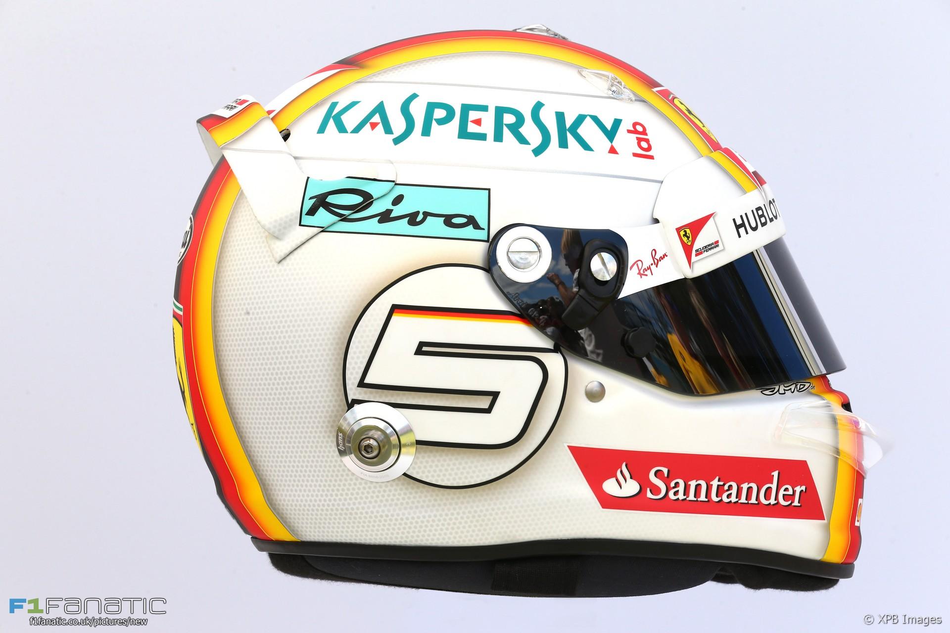 Sebastian Vettel helmet, Ferrari, 2017
