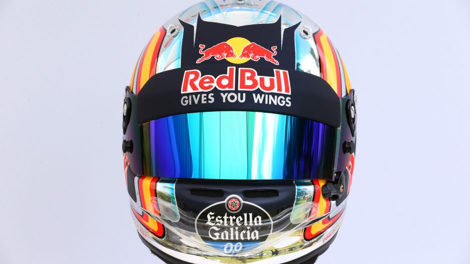 Carlos Sainz Jnr helmet, Toro Rosso, 2017