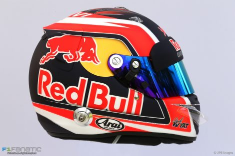 Daniil Kvyat helmet, Toro Rosso, 2017