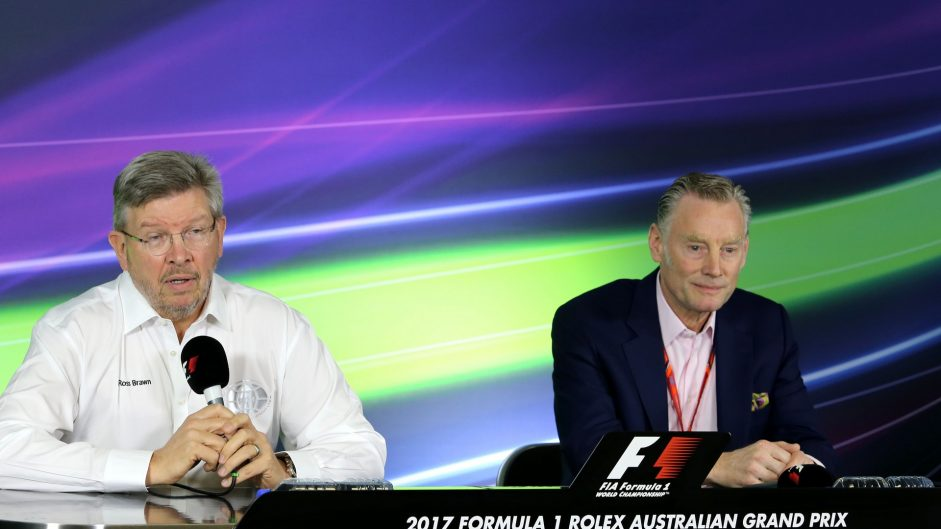 Ross Brawn, Sean Bratches, Albert Park, 2017