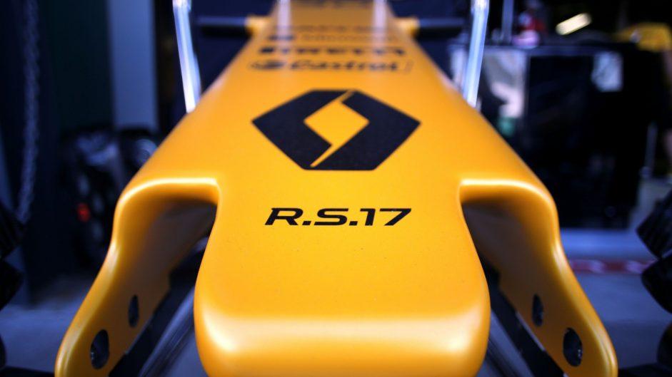 Renault RS17 nose, Albert Park, 2017