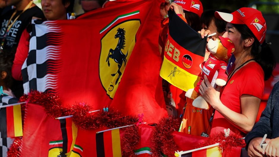 Ferrari fans, Albert Park, 2017