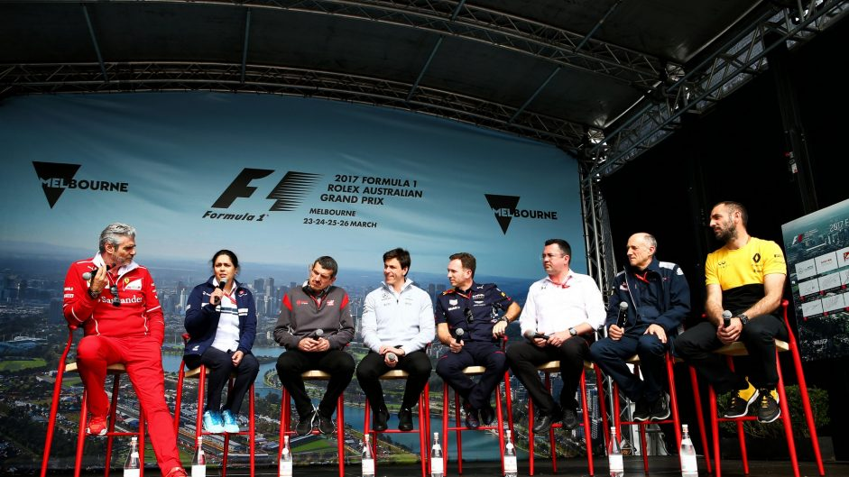 Team principals, Albert Park, 2017