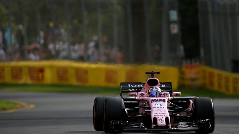 Sergio Perez, Force India, Albert Park, 2017