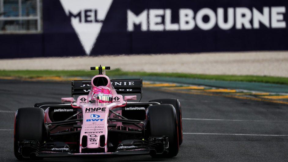 Esteban Ocon, Force India, Albert Park, 2017