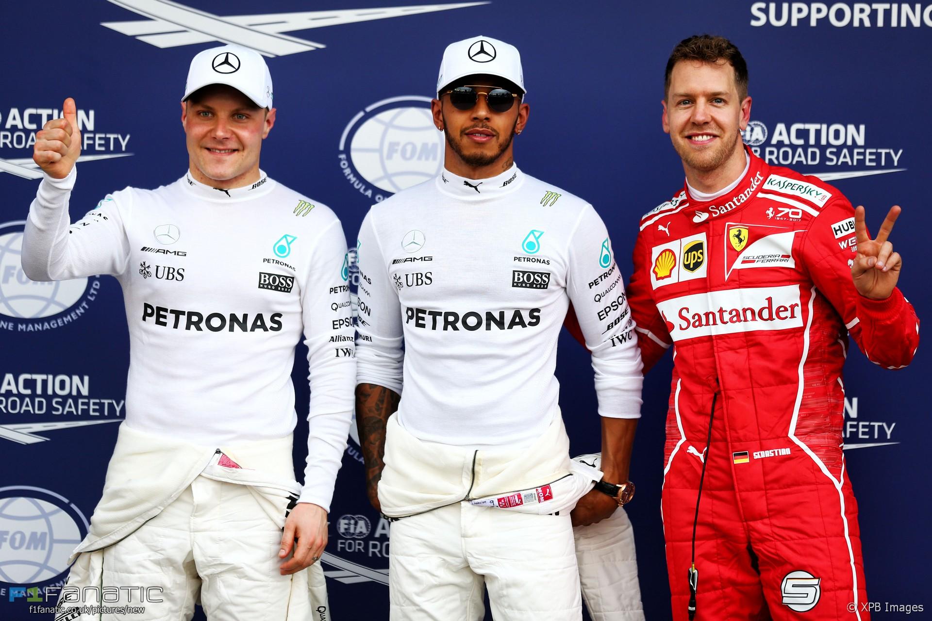 Valtteri Bottas, Lewis Hamilton, Sebastian Vettel, Albert Park, 2017