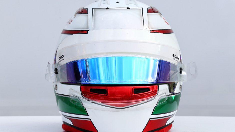 Antonio Giovinazzi helmet, Sauber, 2017