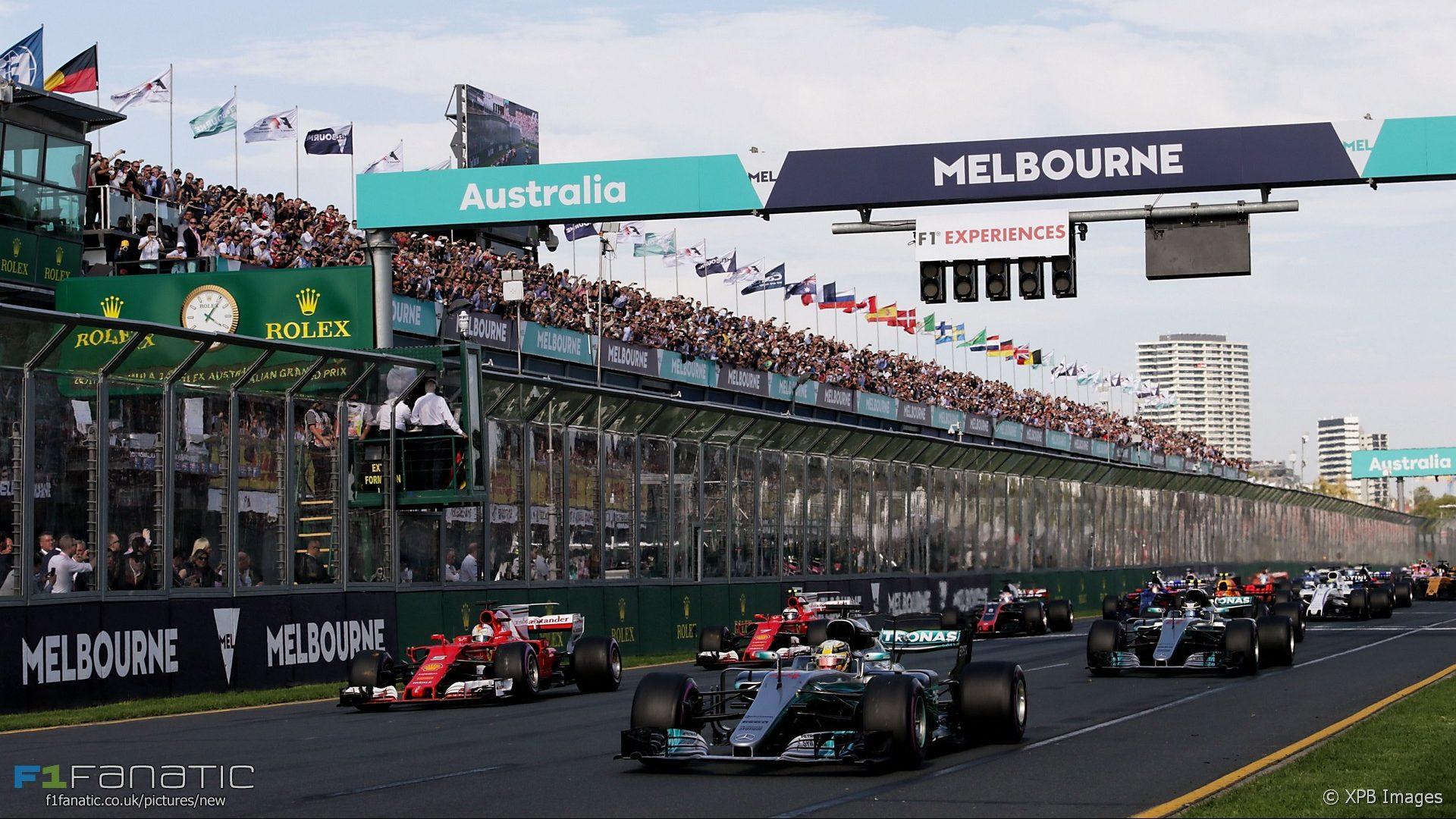 Start, Albert Park, Melbourne, 2017