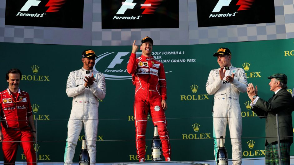 Lewis Hamilton, Sebastian Vettel, Valtteri Bottas, Albert Park, 2017