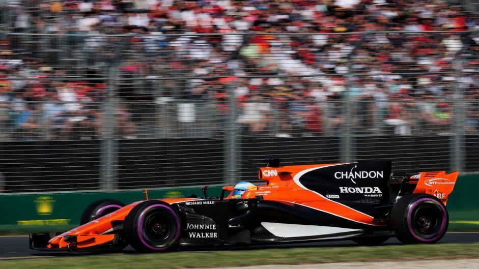 Fernando Alonso, McLaren, Albert Park, 2017