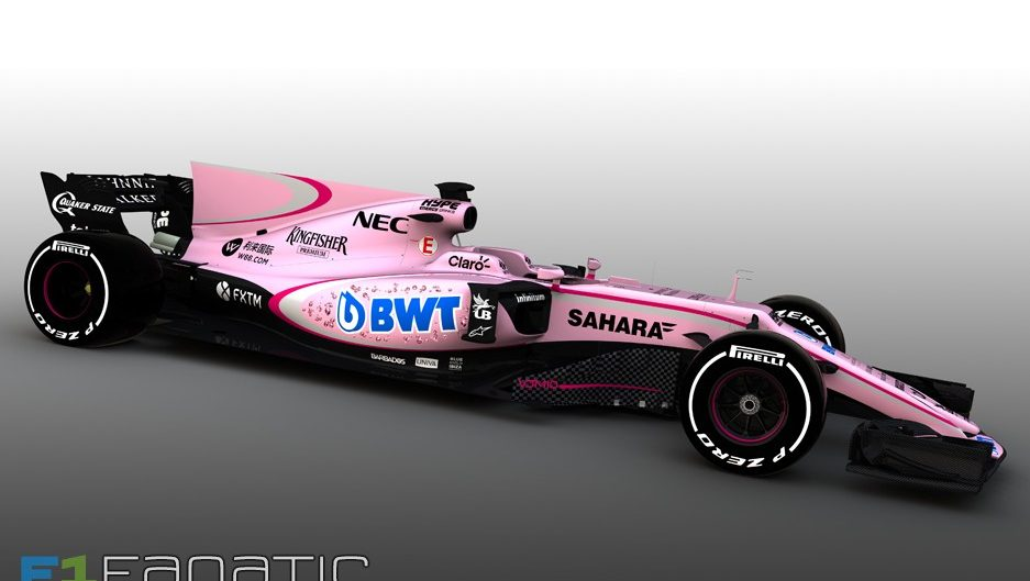 Force India turns pink with new sponsorship deal