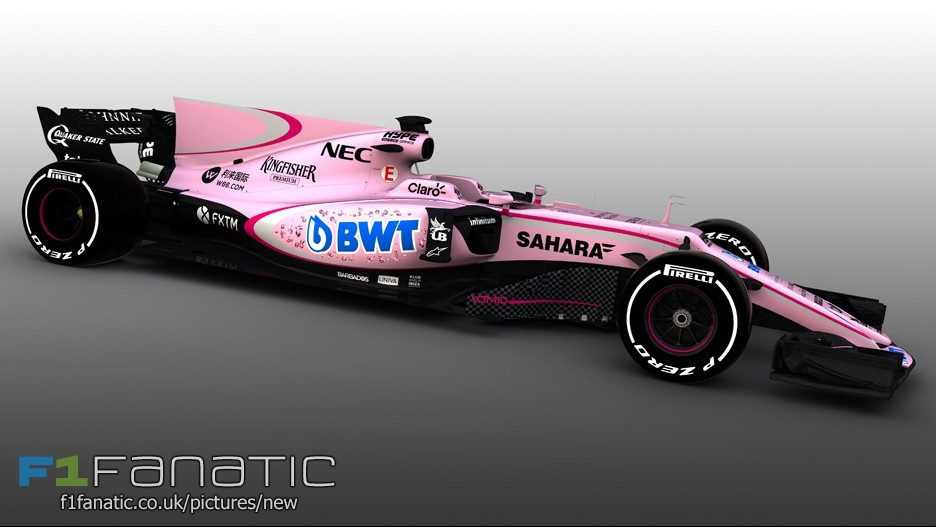 Force India VJM10 pink livery, 2017