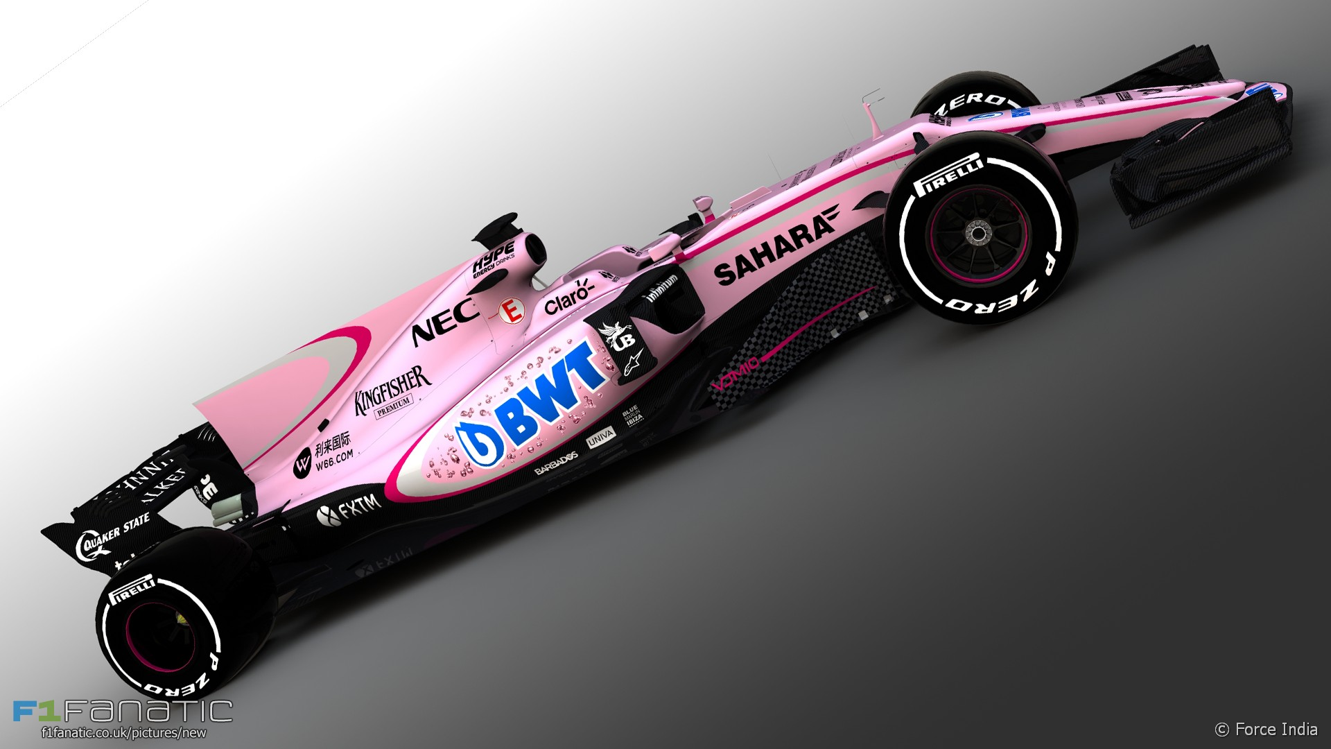 Force India Vjm10 Pink Livery 2017