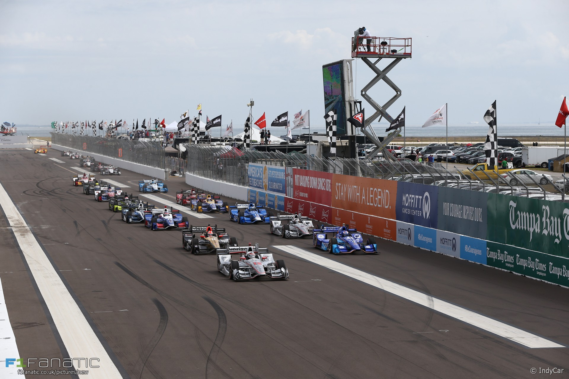 Start, IndyCar, St Petersburg, 2017