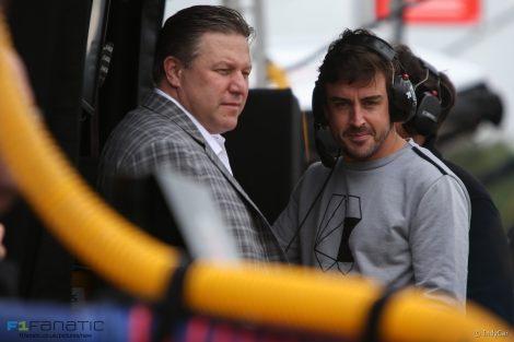 Zak Brown, Fernando Alonso, IndyCar, Barber Motorsports Park, 2017
