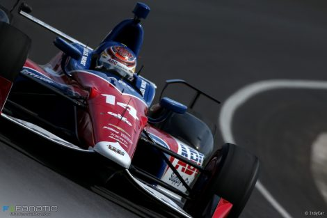 IndyCar's number 14 Munoz has flown at Indianapolis
