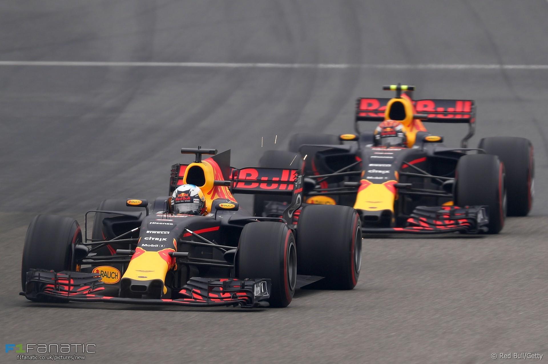 Daniel Ricciardo, Max Verstappen, Red Bull, Shanghai International Circuit, 2017