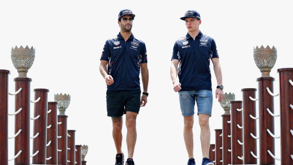 Daniel Ricciardo, Max Verstappen, Red Bull, Bahrain International Circuit, 2017