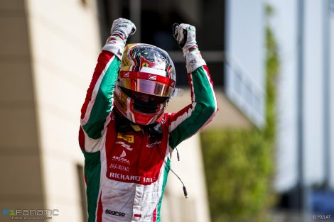 Charles Leclerc, Prema,. Formula Two, Bahrain, 2017