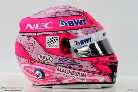 Esteban Ocon helmet, 2017