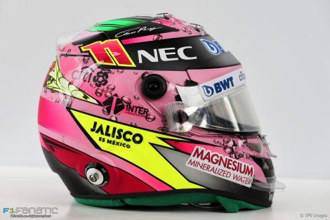 Sergio Perez helmet, 2017
