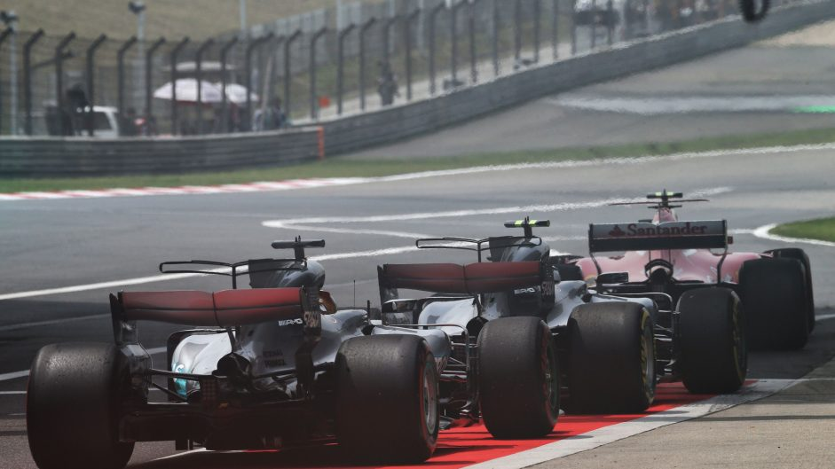 Kimi Raikkonen, Valtteri Bottas, Lewis Hamilton, Shanghai International Circuit, 2017