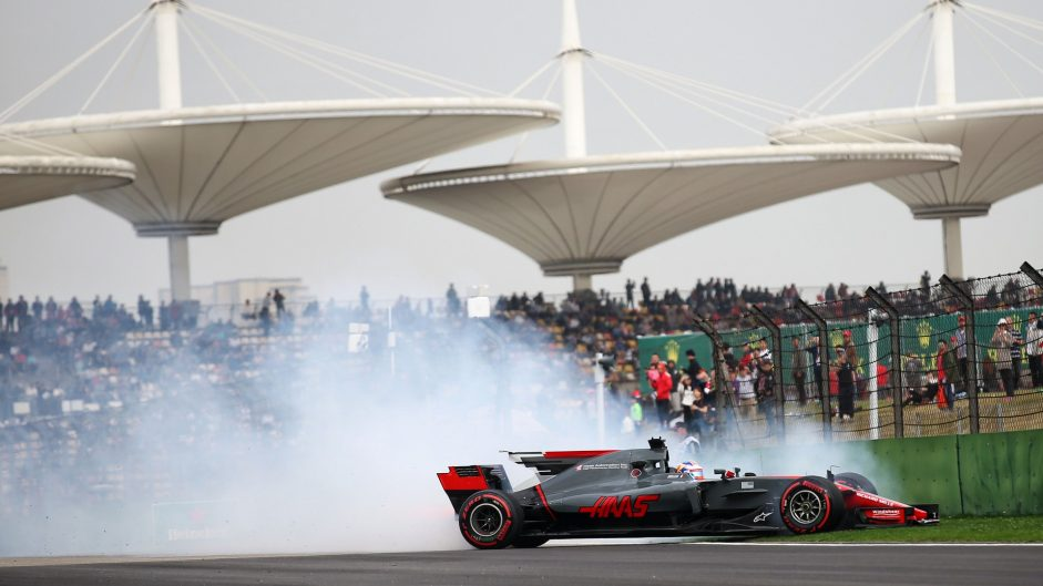 Romain Grosjean, Haas, Shanghai International Circuit, 2017