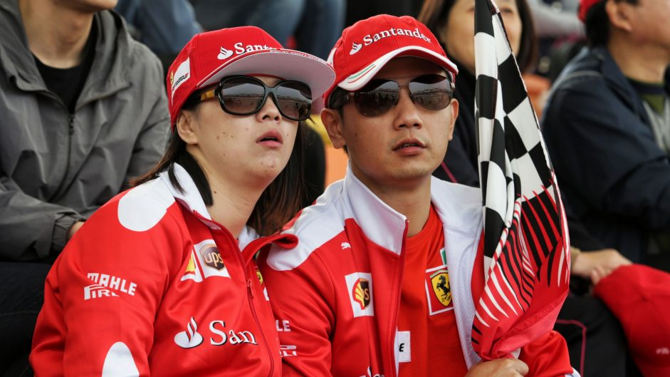 Ferrari fans, Shanghai International Circuit, 2017