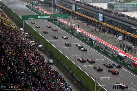 Start, Shanghai International Circuit, 2017