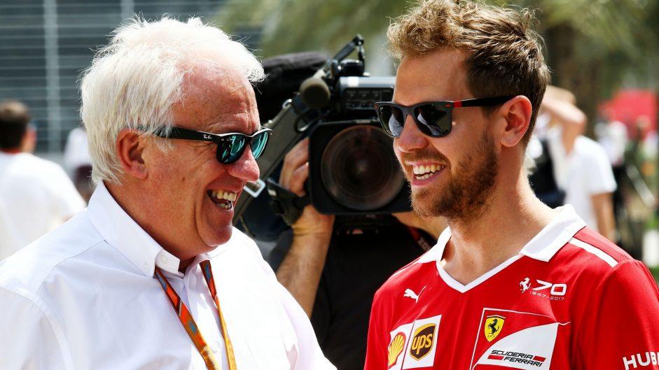 Charlie Whiting, Sebastian Vettel, Bahrain International Circuit, 2017