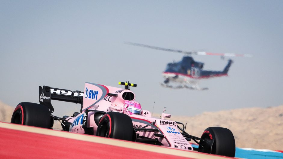 Esteban Ocon, Force India, Bahrain International Circuit, 2017