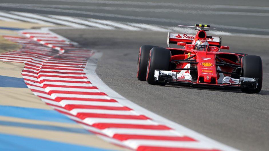 Kimi Raikkonen, Ferrari, Bahrain International Circuit, 2017