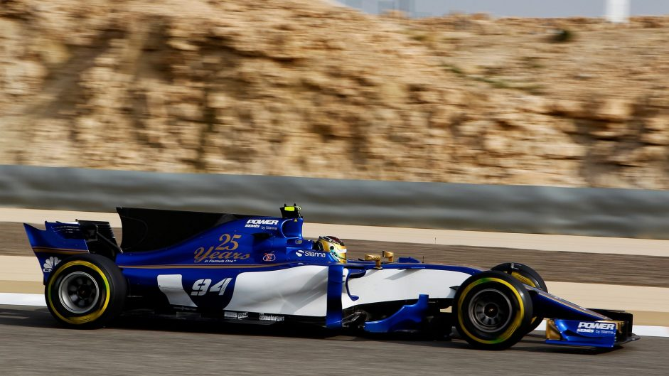 Pascal Wehrlein, Sauber, Bahrain International Circuit, 2017