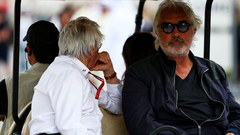 Bernie Ecclestone, Flavio Briatore, Bahrain International Circuit, 2017