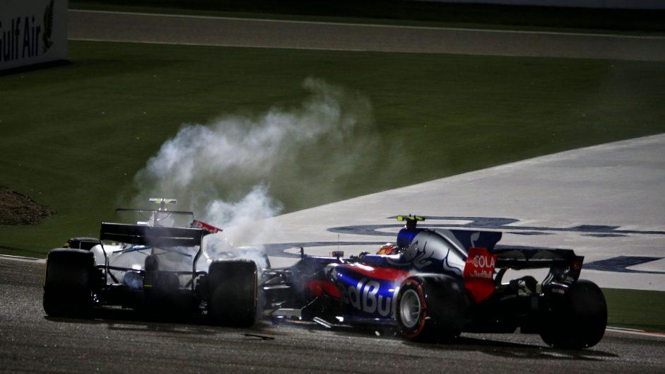 Sainz given grid drop for Stroll crash