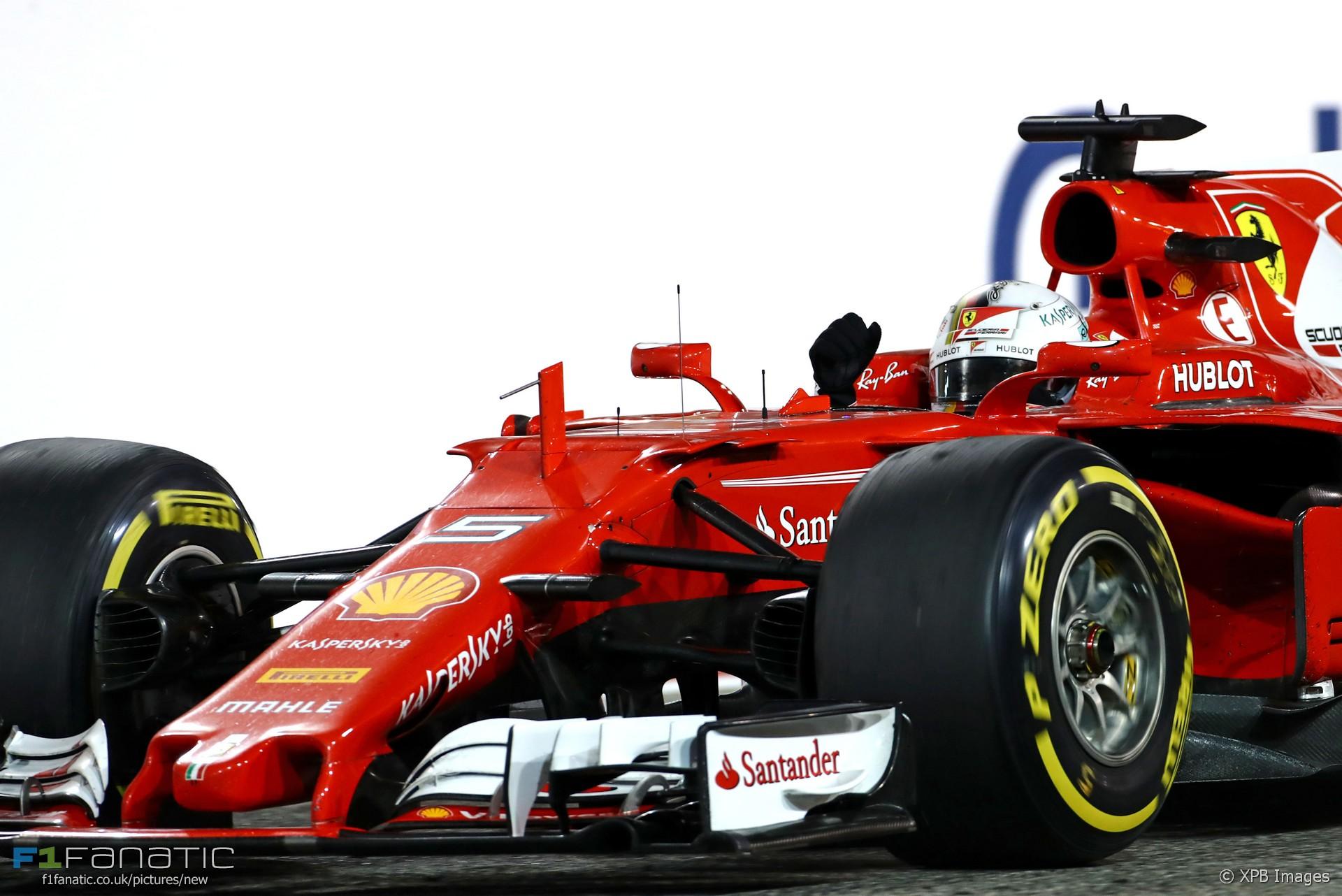 Sebastian Vettel, Ferrari, Bahrain International Circuit, 2017