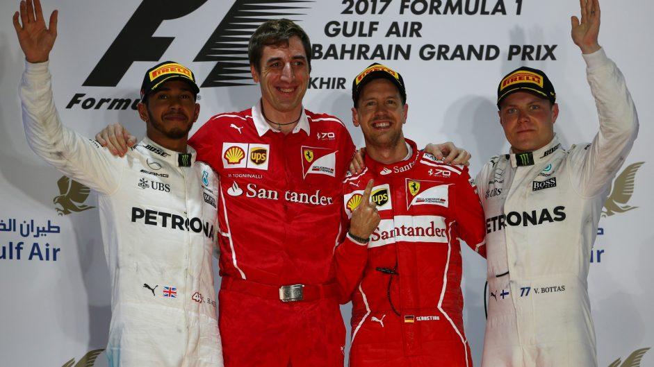 Lewis Hamilton, Sebastian Vettel, Valtteri Bottas, Bahrain International Circuit, 2017