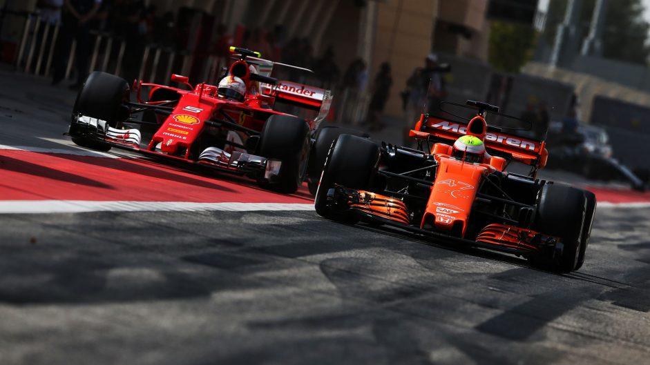 Antonio Giovinazzi, Oliver Turvey, Bahrain International Circuit, 2017
