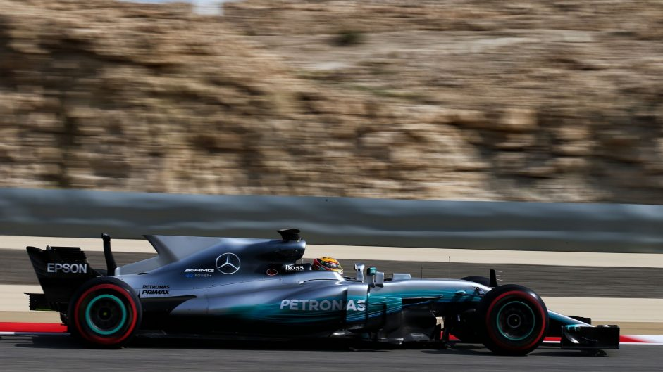 Lewis Hamilton, Mercedes, Bahrain International Circuit, 2017