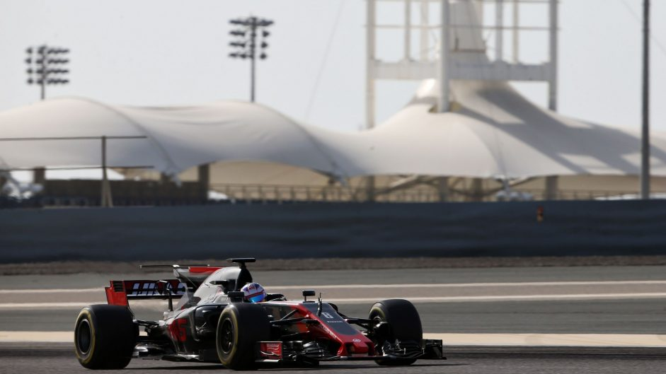 Romain Grosjean, Haas, Bahrain International Circuit, 2017