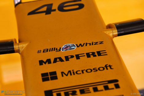 Message of support for Billy Monger, Renault, Sochi Autodrom, 2017