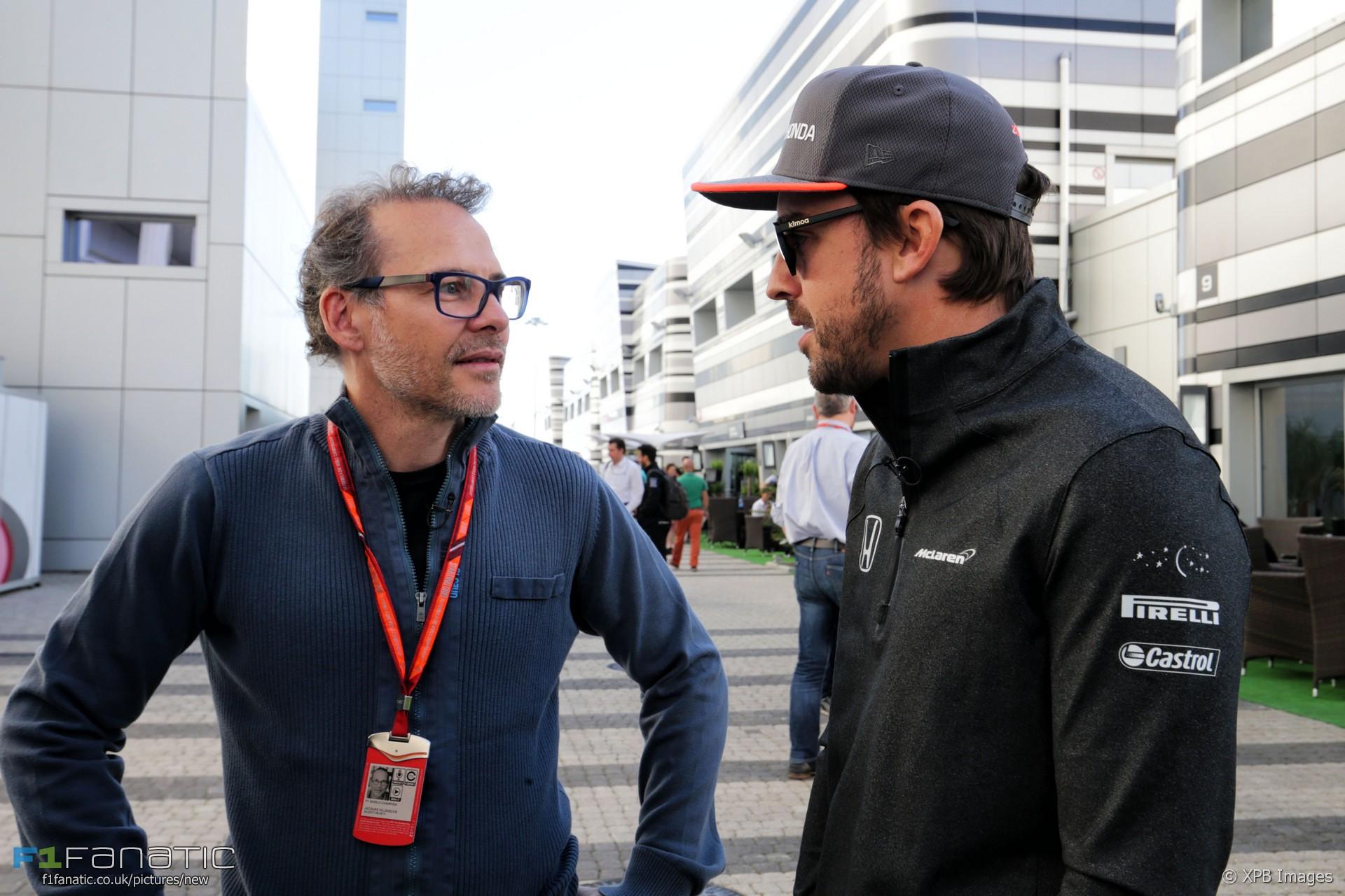 Jacques Villeneuve, Fernando Alonso, Sochi Autodrom, 2017