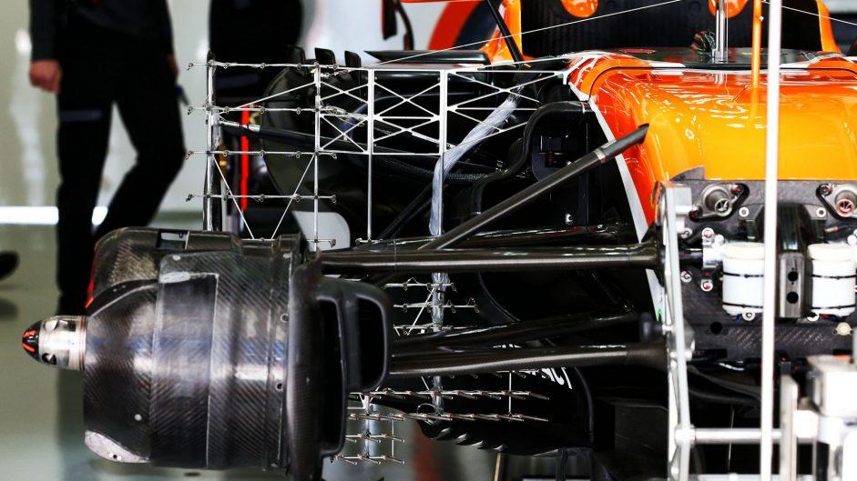 McLaren MCL32 sidepod, Sochi Autodrom, 2017