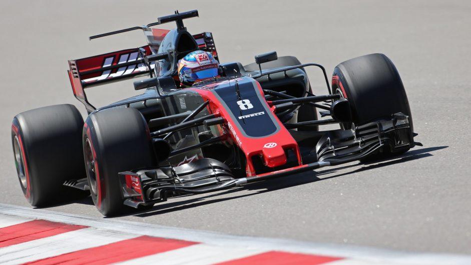 Romain Grosjean, Haas, Sochi Autodrom, 2017