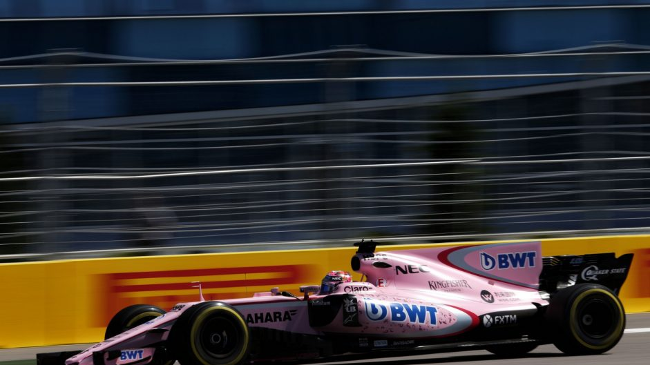 Sergio Perez, Force India, Sochi Autodrom, 2017