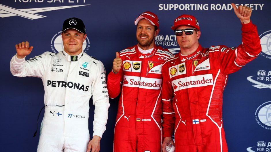 Valtteri Bottas, Sebastian Vettel, Kimi Raikkonen, Sochi Autodrom, 2017